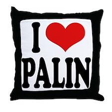 I Love Palin Throw Pillow