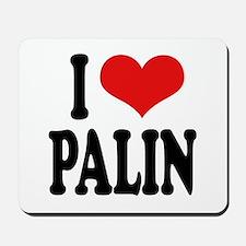 I Love Palin Mousepad