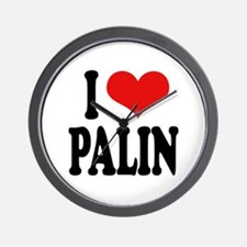 I Love Palin Wall Clock