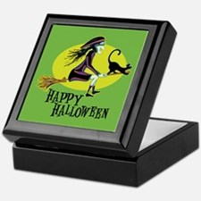 Happy Halloween Witch Keepsake Box