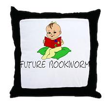 Future Bookworm Throw Pillow