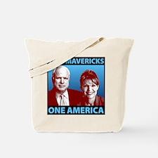 Two Mavericks, One America Tote Bag