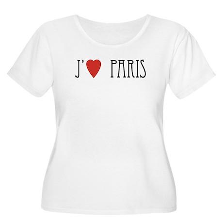 J'(Heart) Paris Women's Plus Size Scoop Neck T-Shi