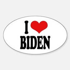 I Love Biden Oval Decal