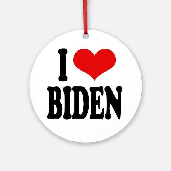 I Love Biden Ornament (Round)