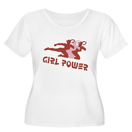 Girls Rule! Girl power t-shir Women's Plus Size Sc