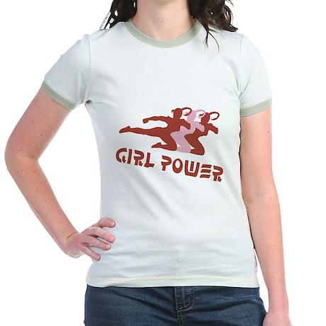 Girls Rule! Girl power t-shir Jr. Ringer T-Shirt