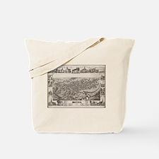 Vintage Pictorial Map of Dover Delaware ( Tote Bag