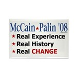 McCain/Palin Real Change Rectangle Magnet