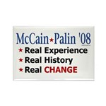 McCain/Palin Real Change Rectangle Magnet (100 pac