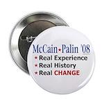 "McCain/Palin Real Change 2.25"" Button"