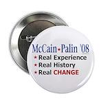 "McCain/Palin Real Change 2.25"" Button (10 pac"