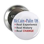 """McCain/Palin Real Change 2.25"""" Button (100 pa"""