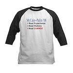 McCain/Palin Real Change Kids Baseball Jersey