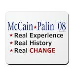 McCain/Palin Real Change Mousepad