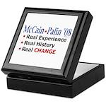 McCain/Palin Real Change Keepsake Box