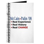 McCain/Palin Real Change Journal