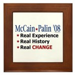 McCain/Palin Real Change Framed Tile