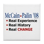 McCain/Palin Real Change Tile Coaster