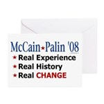 McCain/Palin Real Change Greeting Cards (Pk of 10)