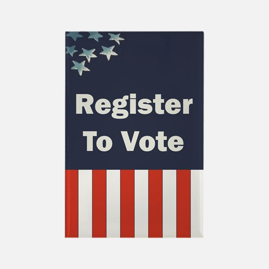 Register to Vote Rectangle Magnet