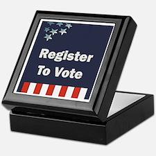 Register To Vote Keepsake Box