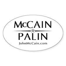 McCain / Palin Official Logo Oval Decal