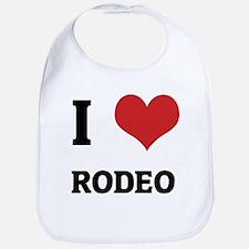 I Love Rodeo Bib