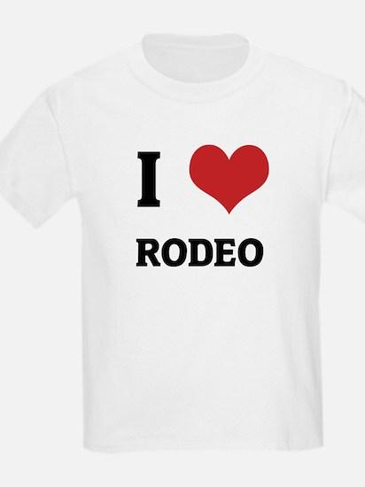 I Love Rodeo Kids T-Shirt