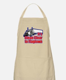 Clean Clear to Flagtown BBQ Apron