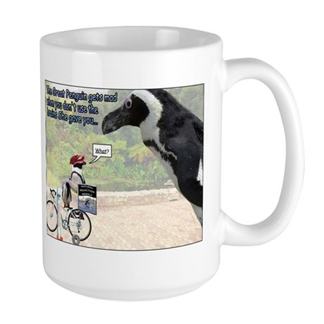 The Great Penguin Gets Mad... Large Mug