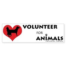 Volunteer for Animals Bumper Bumper Sticker