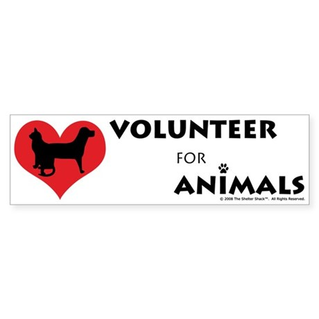 Volunteer for Animals Bumper Sticker