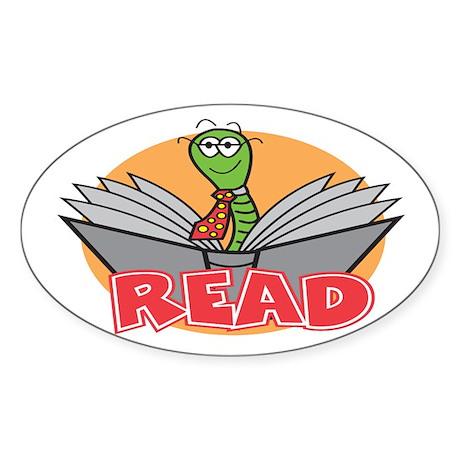 Reading Oval Sticker (10 pk)
