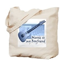 Music is My Boyfriend Tote Bag