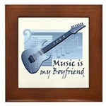 Music is My Boyfriend Framed Tile