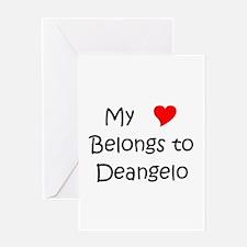 Unique Deangelo Greeting Card