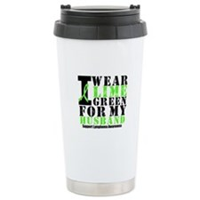 Lymphoma Husband Travel Coffee Mug
