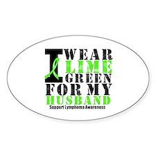 Lymphoma Husband Oval Sticker (10 pk)