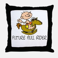 Future Bull Rider Throw Pillow