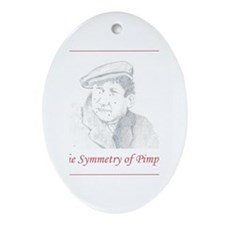 Symmetry of Pimples Oval Ornament
