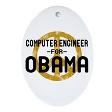 Computer Engineer for Obama Oval Ornament