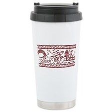 RED TRI-BAND Travel Mug
