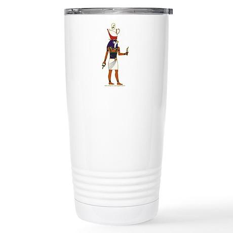 Horus Hieroglyph Stainless Steel Travel Mug