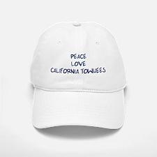 Peace, Love, California Towhe Baseball Baseball Cap