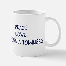 Peace, Love, California Towhe Mug