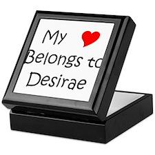 Cute Desirae Keepsake Box