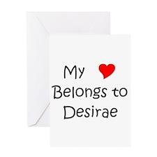 Cute Desirae Greeting Card