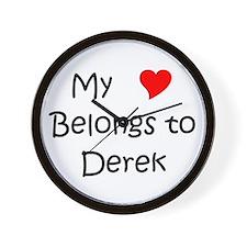 Funny Heart derek Wall Clock