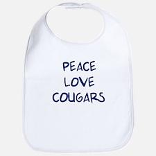 Peace, Love, Cougars Bib